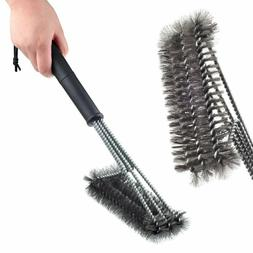 """Safe BBQ Cleaning Grill Brush and Scraper - 18"""" Best Stainle"""