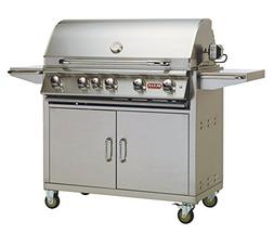 38 Brahma Cart Gas Grill with Lights - Gas Type: Natural Gas