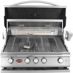 Cal Flame 4-Burner Built-in Propane Gas Grill Stainless Stee