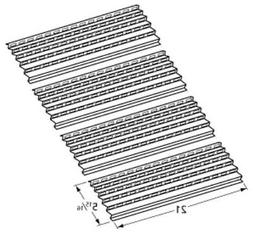 4 Pack -  Gas Grill Steel Heat Plate 94091 For Select Viking