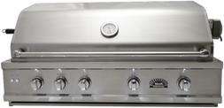 Sole 42 Inch Luxury Natural Gas Grill with Lights and Rotiss