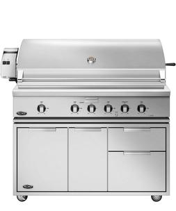 """48"""" DCS SS PROPANE GAS GRILL w/cart #BH148R-L+CAD1-48 WE WIL"""