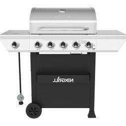 5-Burner Propane Gas Grill Stainless Steel with Side Burner
