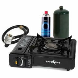 SHINESTAR 7,200 BTU Dual Fuel Portable Propane and Butane Ga