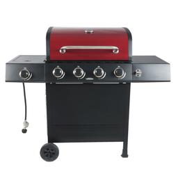 BBQ Gas Grill LP Propane Side Burner 4-Burner Stainless Stee