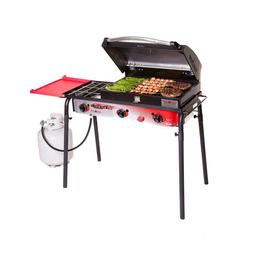 Camp Chef Big Gas 3-Burner Portable Propane Gas Grill in Red