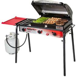 "Camp Chef Big Gas Grill 3-Burner, 16"" Surface, Removable Gri"