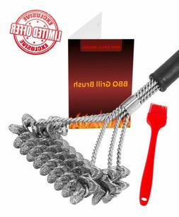 Bristle Free Barbecue Grill Brush Best for Gas/Charcoal Barb