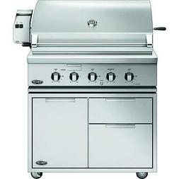 """DCS Traditional Gas Grill On Cart with Rotisserie, 36"""", Prop"""