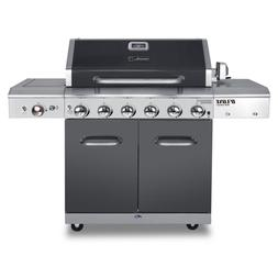 Deluxe 6-Burner Propane Gas Grill in Slate with Ceramic Sear