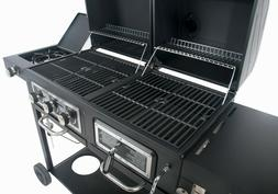 Dual Fuel Gas & Charcoal Combo Grill 557 sq in total cooking