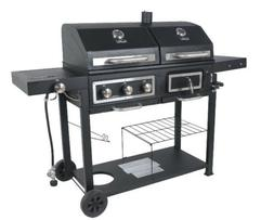 Dual Fuel Grill RevoAce Charcoal and Gas Black Stainless Ste