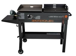 """Blackstone Duo 17"""" Griddle Charcoal Grill Combo Patio Garden"""