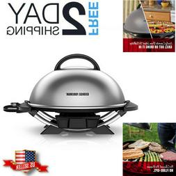 Electric Grill Patio Outside Indoor Outdoor BBQ Portable Coo