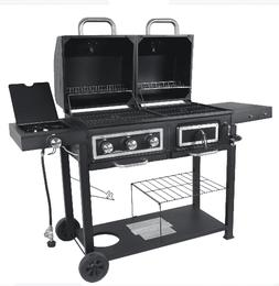 GAS CHARCOAL OUTDOOR COMBO GRILL Dual Fuel, Stainless Steel