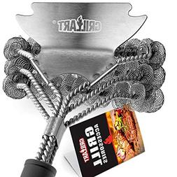 GRILLART Grill Brush Bristle Free - Safe BBQ Cleaning Grill