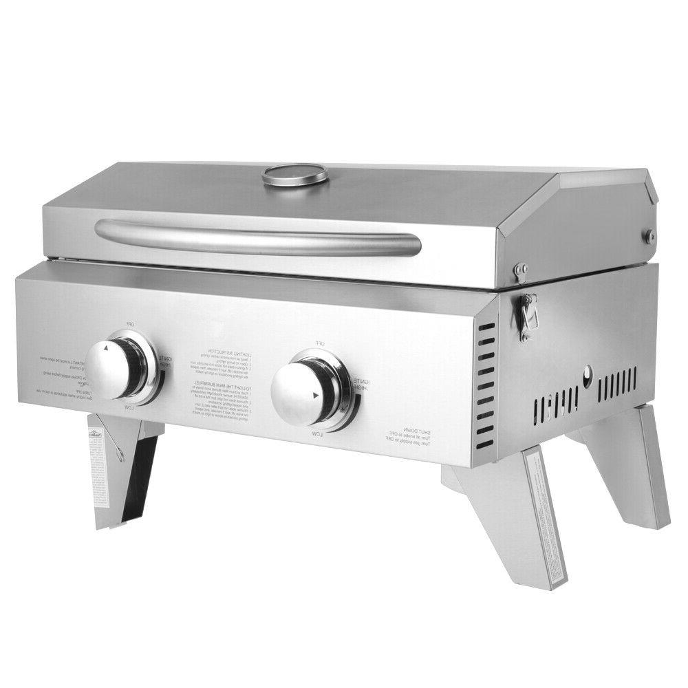 2-Burner Stainless Camping BBQ