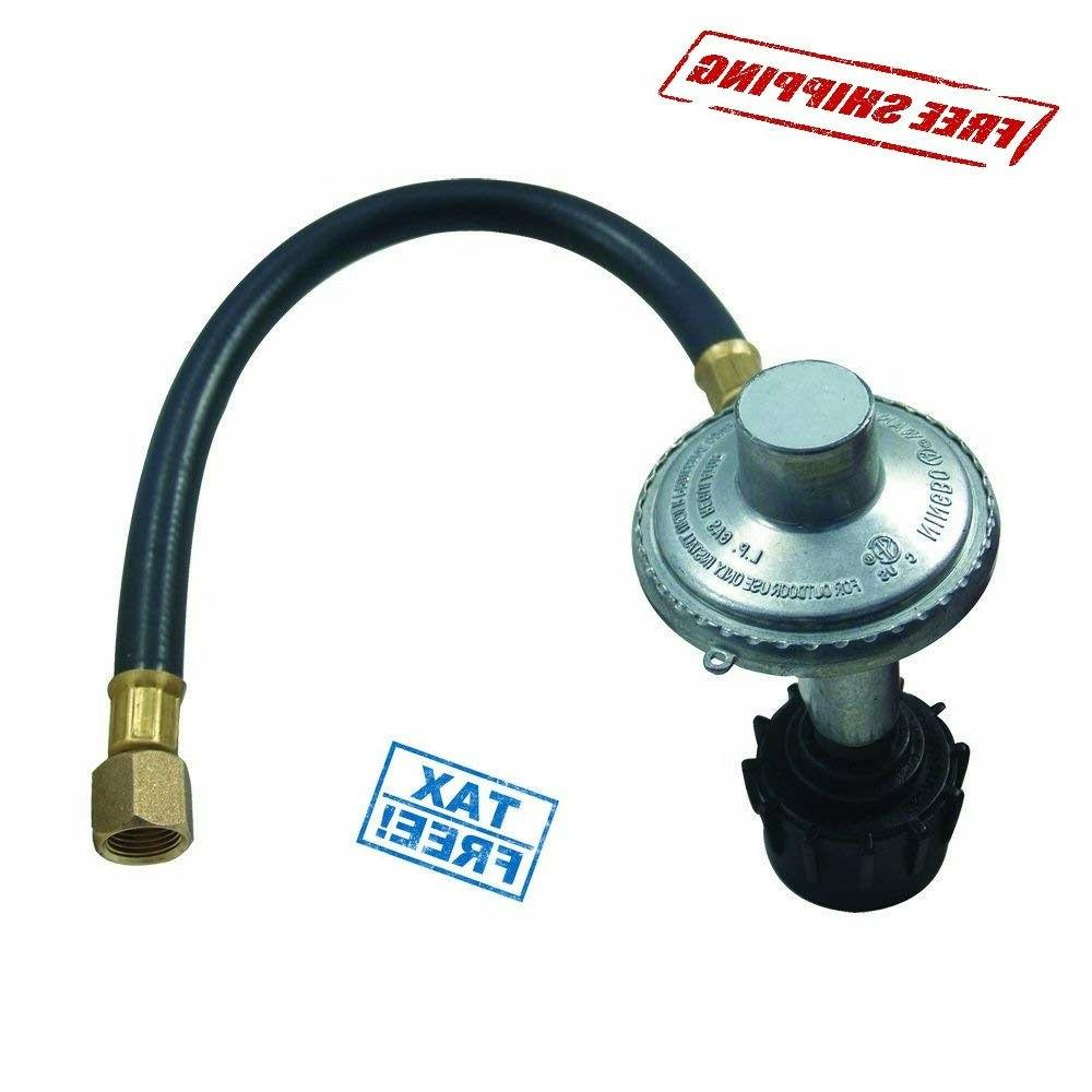 2 Ft Hose Low Pressure Propane Regulator Connection Kit LP B