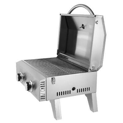 Outdoor Portable Table Steel Burner Grill BTUs