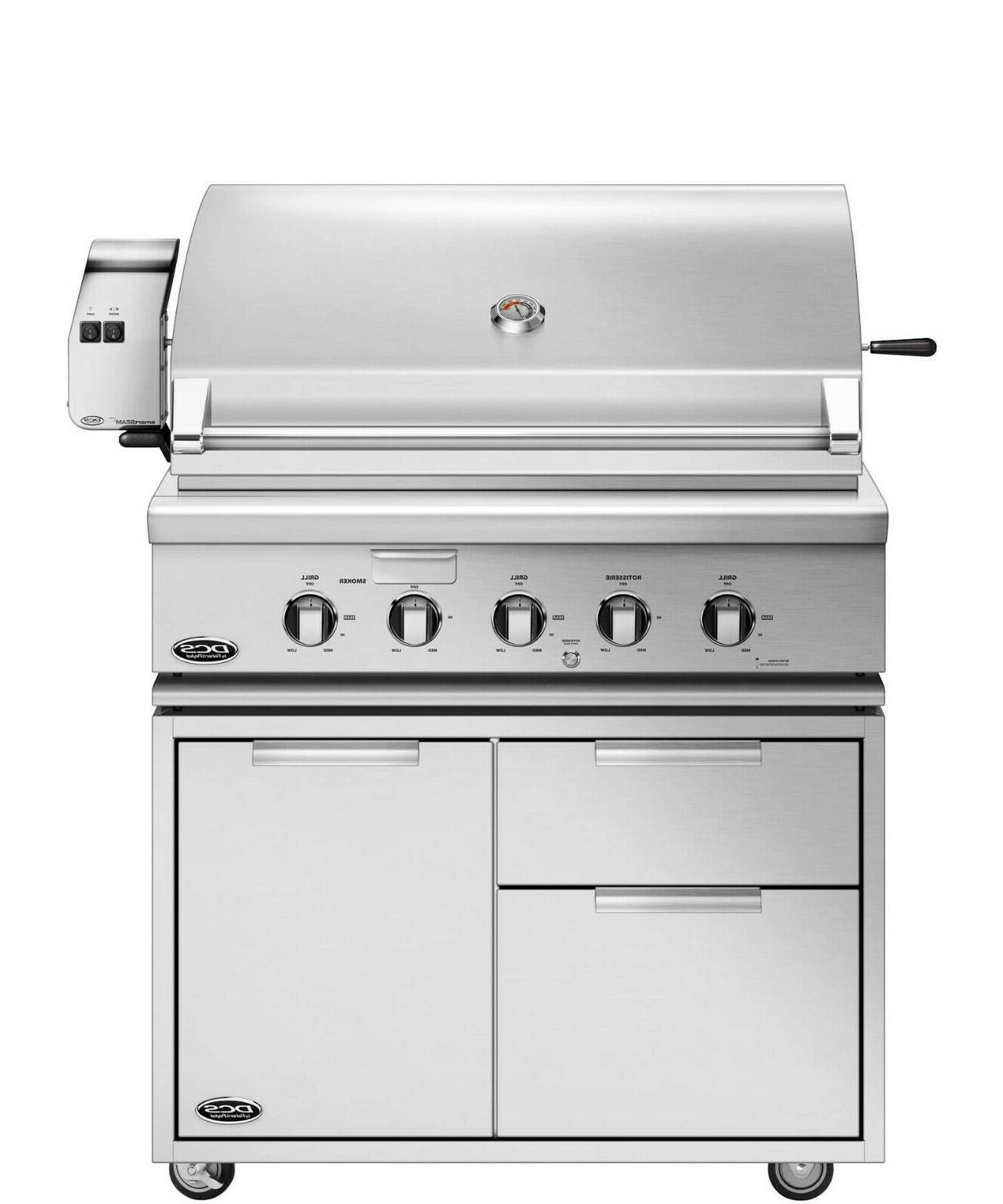 36 ss natural gas grill w cart