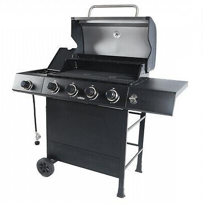 4+1 Black Stainless Steel Outdoor Grill Backyard Patio
