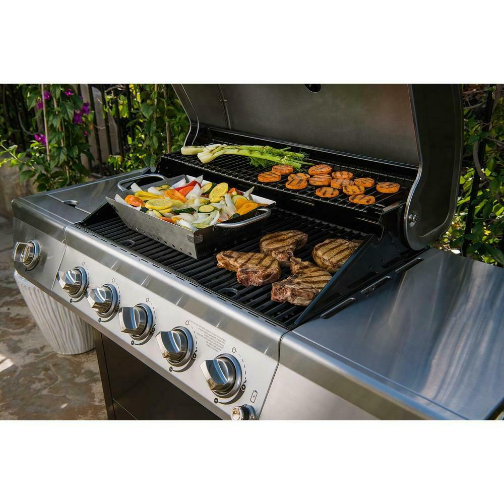 Propane Gas Grill Stainless Steel BBQ Side Burner 5 LP