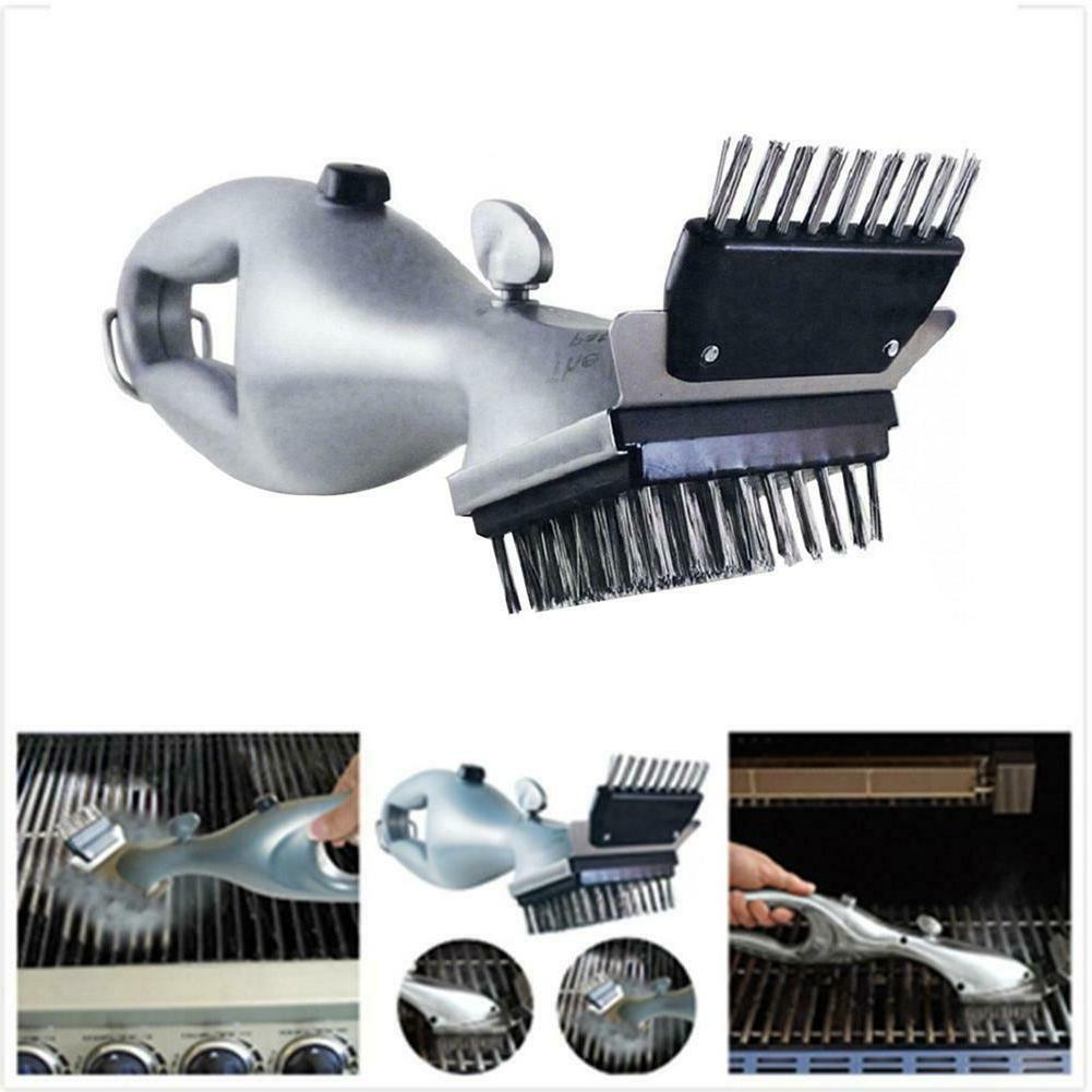 barbecue grill steam cleaning brush charcoal cleaner
