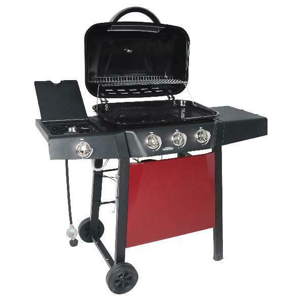 BBQ Grill Propane Side Stainless Barbecue Outdoor