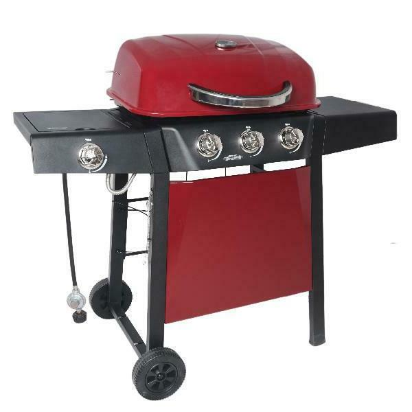 BBQ Grill Propane Side Stainless Steel Barbecue