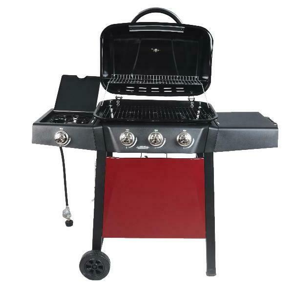 BBQ Gas Grill Propane Burner Stainless Steel Barbecue Outdoor