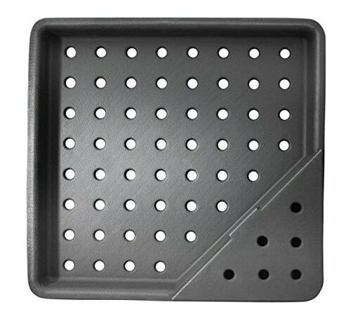 Cast Iron Charcoal Smoker Tray Outdoor Gas