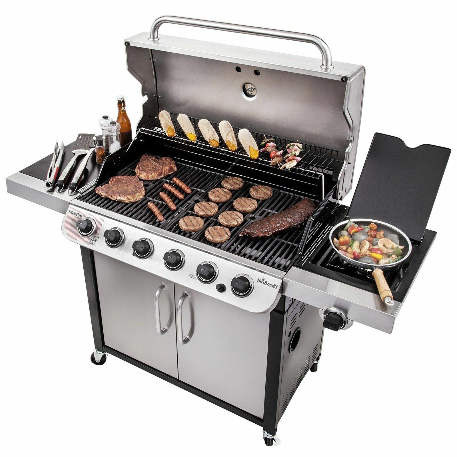 Char Broil Performance 650 6-Burner Cabinet Gas Grill NEW