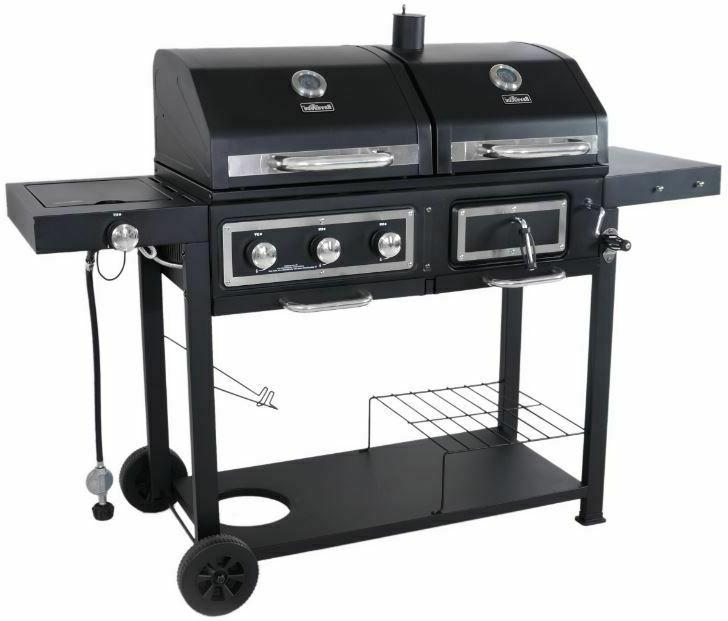 charcoal gas grill dual fuel combination bbq