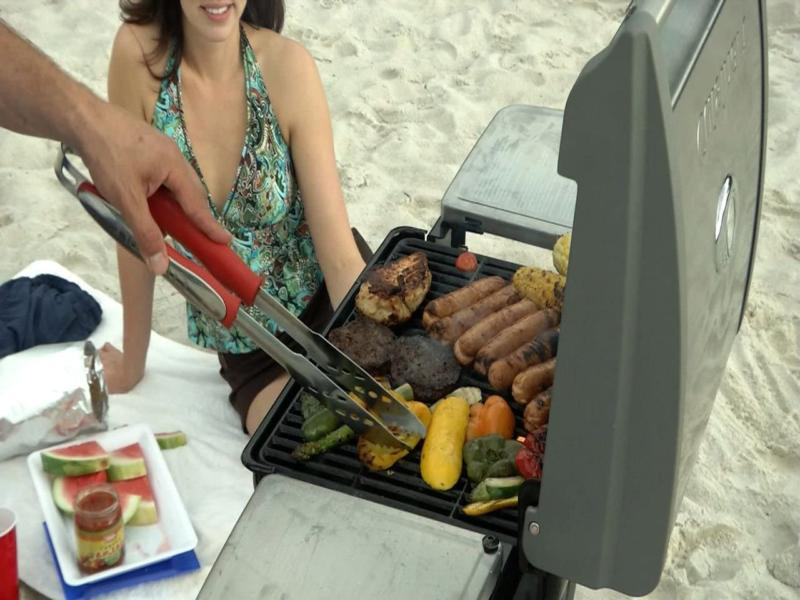 Cuisinart Cgg 240 Gas Grill Stainless Compact Outdoor New