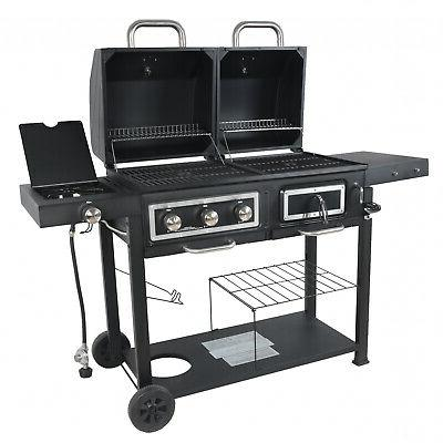 dual fuel charcoal gas grill combination bbq