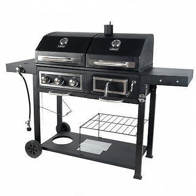 Dual Charcoal Grill Outdoor Cooking Burner