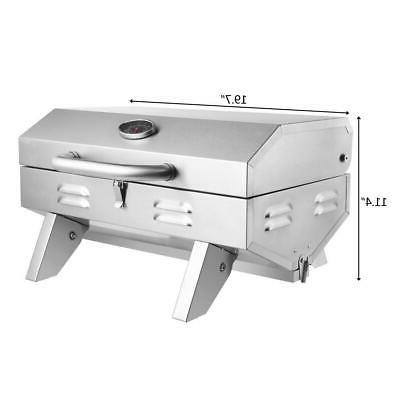 Outdoor Tabletop Propane Gas Grill Two-Burner
