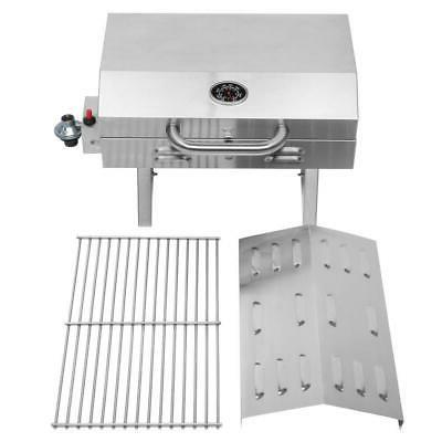 Outdoor Stainless Propane Grill Portable Two-Burner Legs