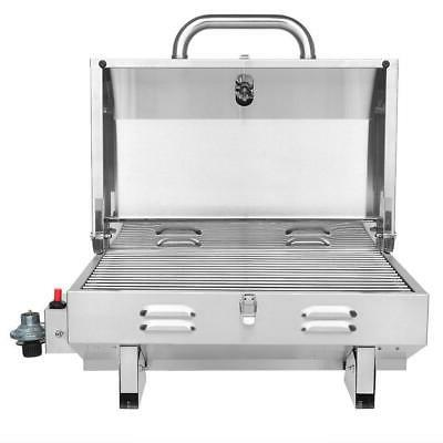 Outdoor Tabletop Propane Two-Burner BBQ Legs