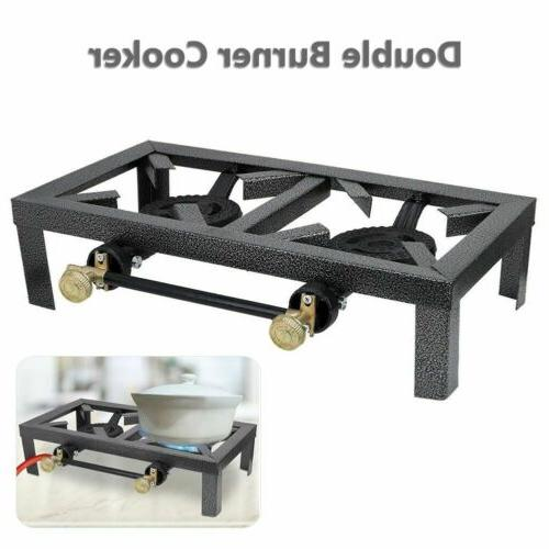Portable 1/2 Burner Gas Cooker Stove Stand Grill Chic