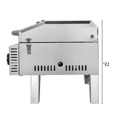 Outdoor Stainless Propane 2 Burner BBQ Grill 20000BTUs