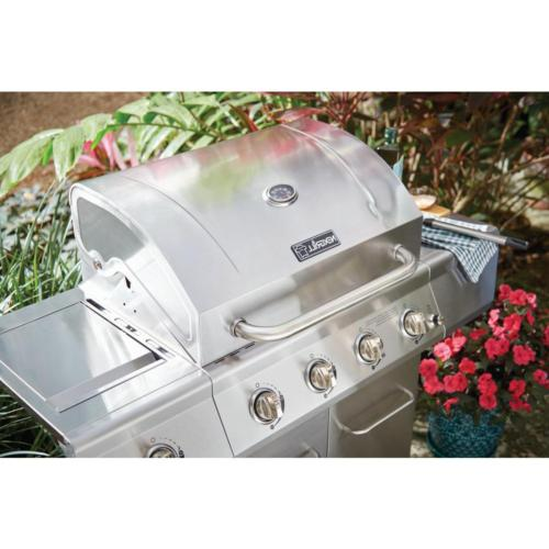 Propane Grill in Stainless Side Burner Stainless