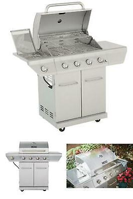 propane gas grill 4 burner in stainless