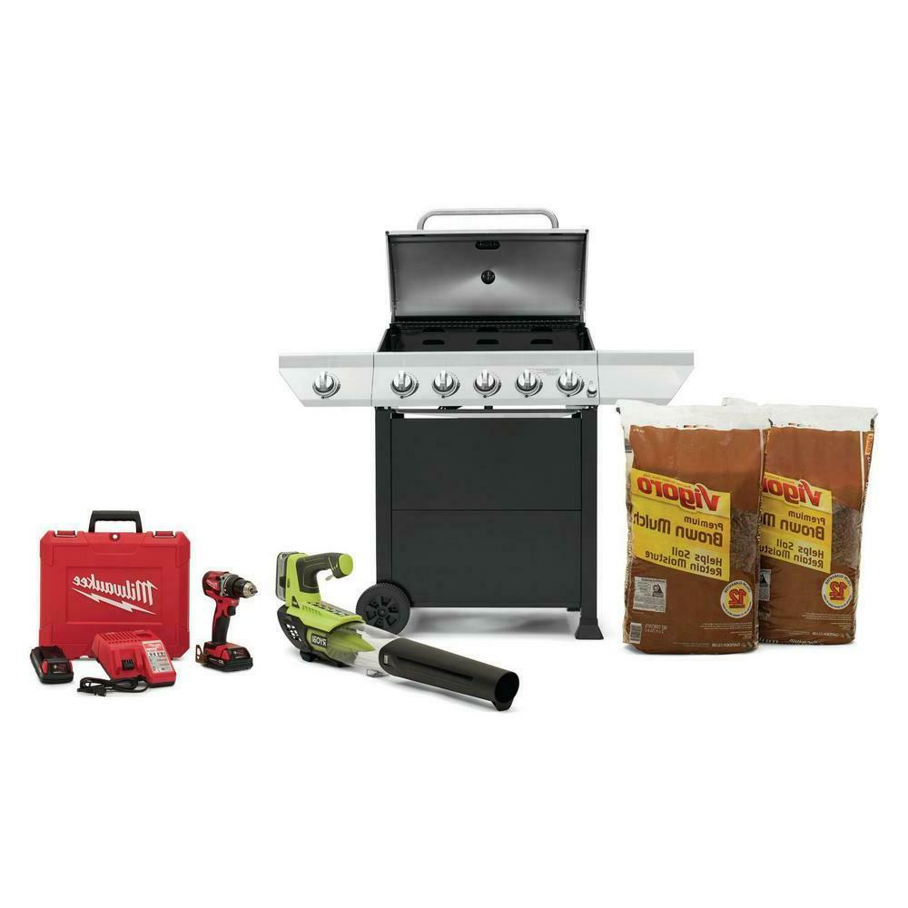 Propane Gas Grill Stainless BBQ Side LP