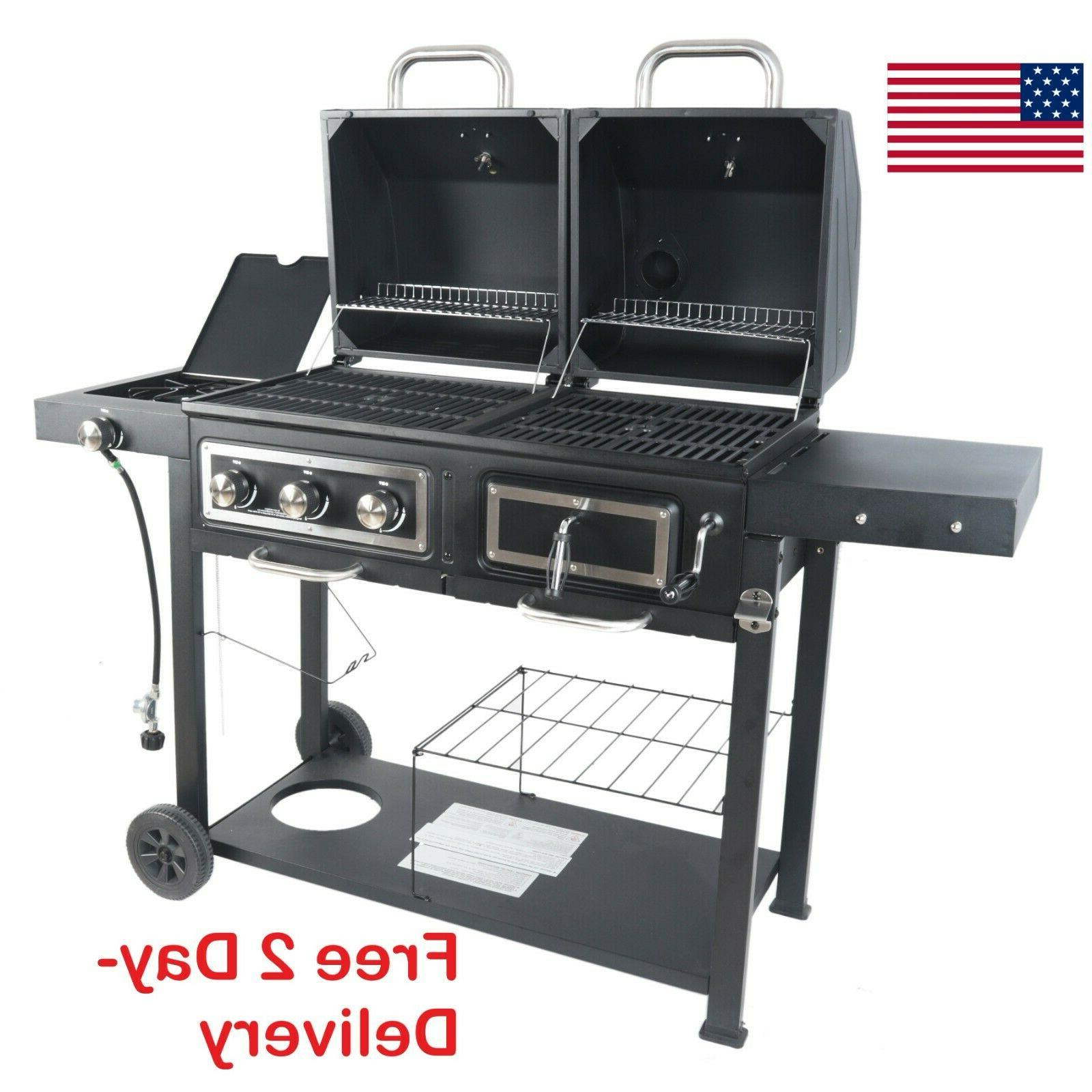 revoace dual fuel grill charcoal and gas