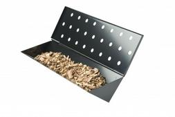 Large V Shaped Wood Chip Smoker Box for Gas Grills  Charcoal