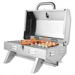 outdoor tabletop stainless steel propane gas grill