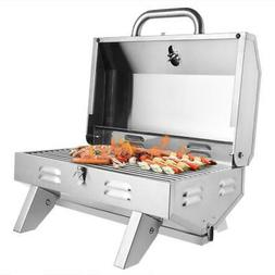 Outdoor Tabletop Stainless Steel Propane Gas Grill Portable
