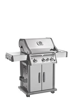 Napoleon Rogue 425 Grill on Cart w/ IR Side Burner, Stainles