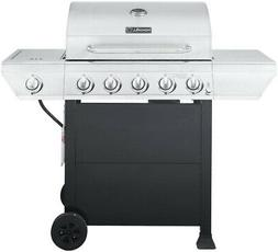 Propane Gas Grill Patio Stainless Steel BBQ w Side Burner 5